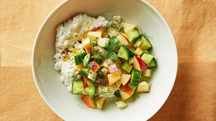 simple cottage cheese salad