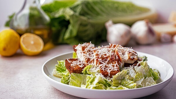 How Can You Make a Healthier Caesar Salad with Chicken