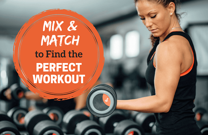 Mix and match exercises