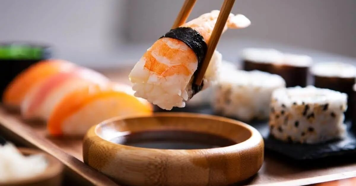 Sushi that contains Gluten
