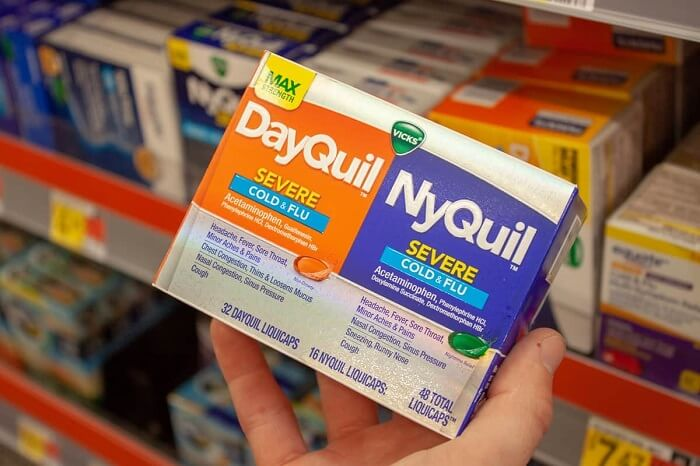 What is it about NyQuil that induces sleep